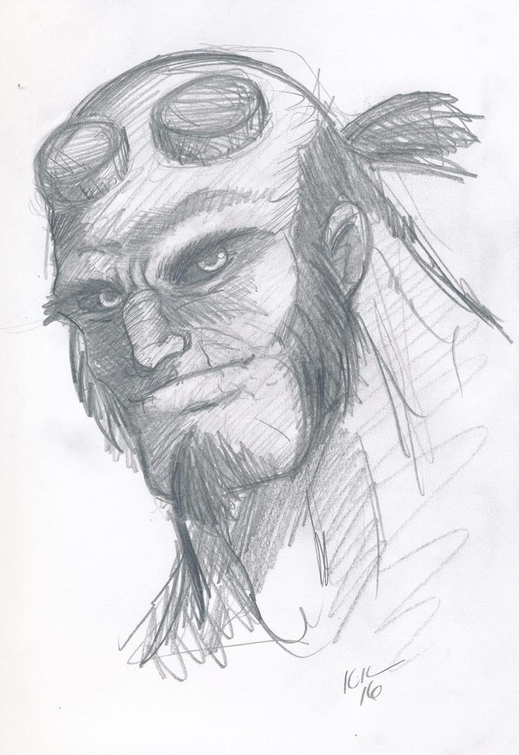 Hellboy sketch by Koku-chan