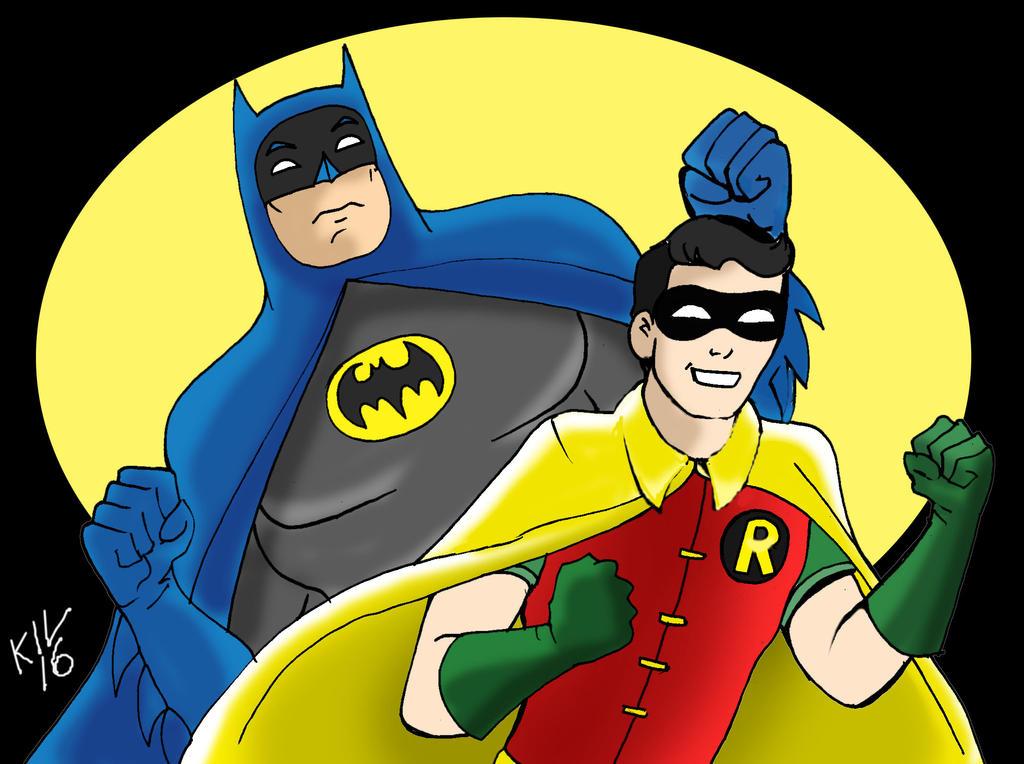 Classic Batman and Robin by Koku-chan