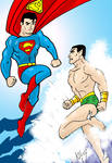 Superman vs Sub-Mariner by Koku-chan