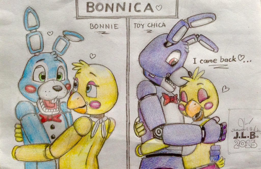 Bonnica bonnie and toy chica s story by sammfeatblueheart on