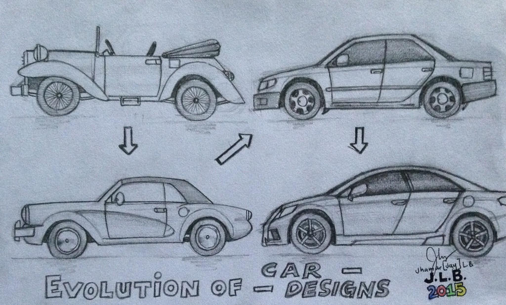 Evolution of Car Designs by SammfeatBlueheart on DeviantArt