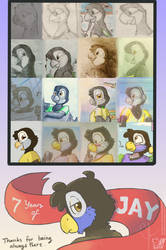 7 Years of Jay by SammfeatBlueheart