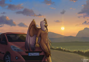 Commission - Me And My Ride