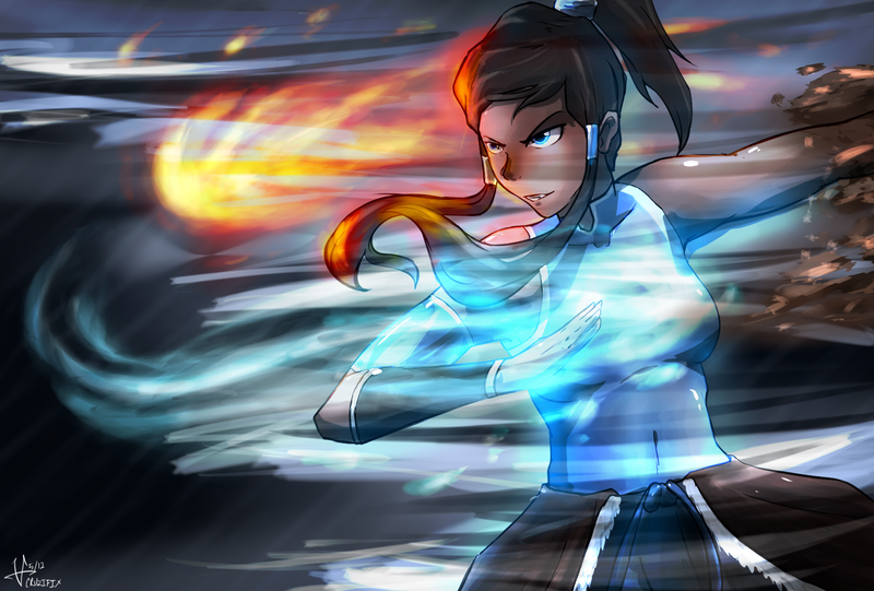 Korra Quick sketch and color by 0CRUZIFIX0