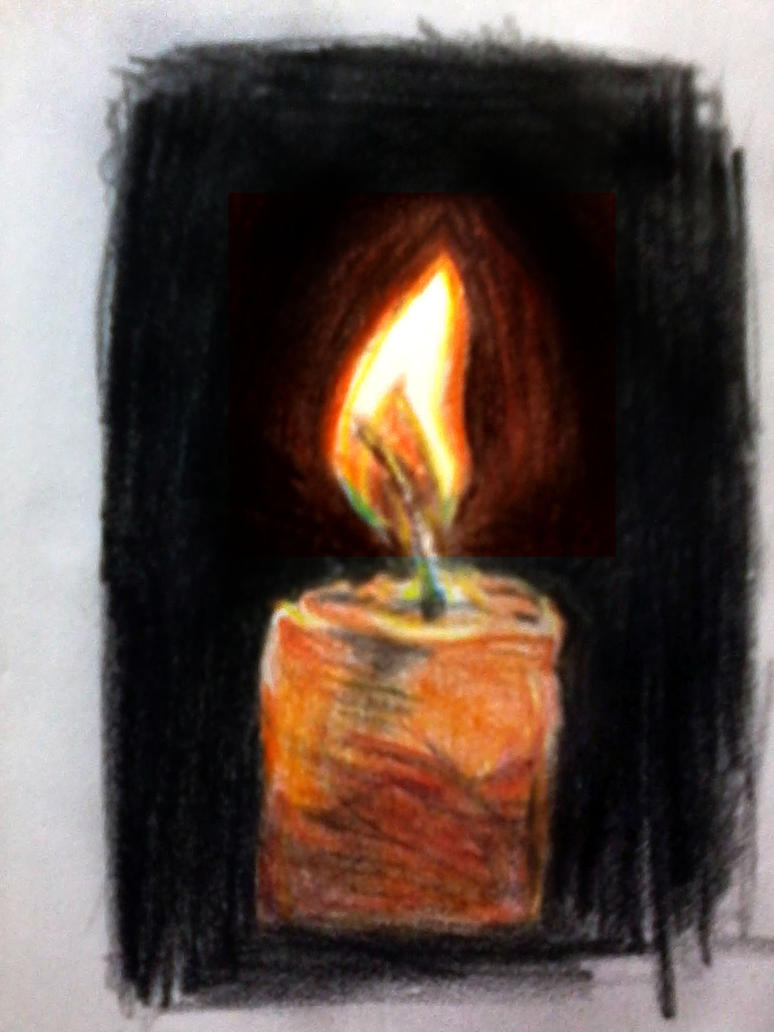 Color Pencil candle Revised by nilesh10494 on DeviantArt for Candle Drawing With Color  75tgx