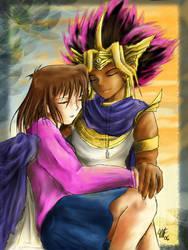 Atem and Anzu by Aysuh