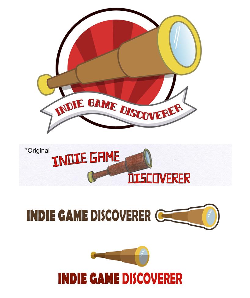 Indie Game Discoverer Logos (Concepts) by JKRiki