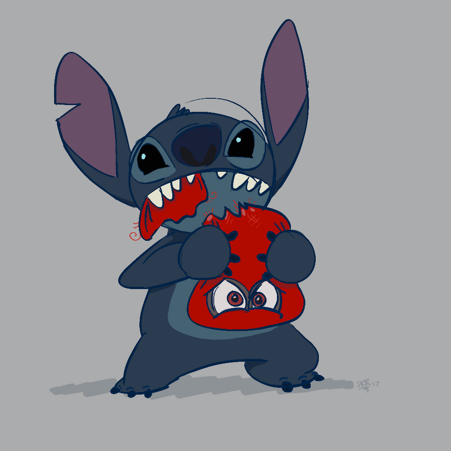Stitch and Cappy by JKRiki