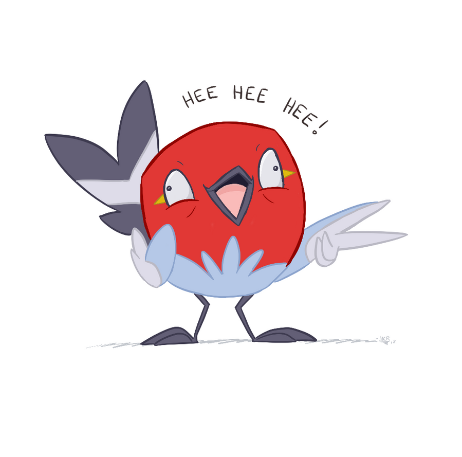 Crazed Fletchling by JKRiki