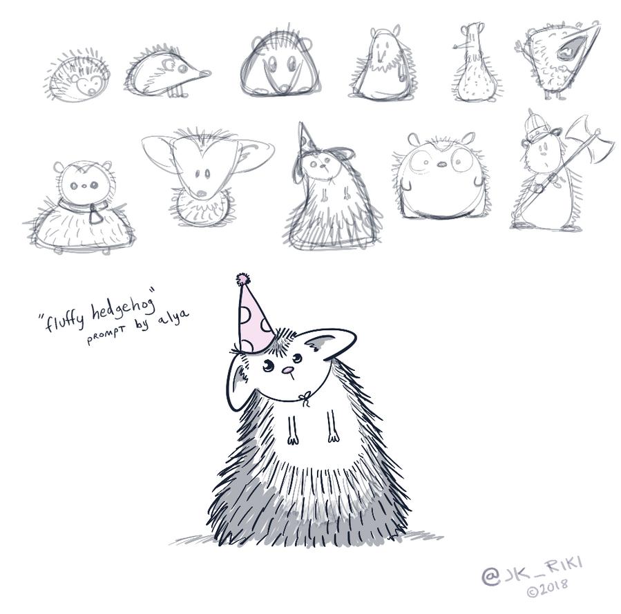 Fluffy Hedgehog by JKRiki