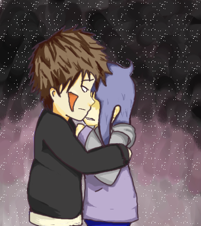 A sad hug :C by LilMis on DeviantArt