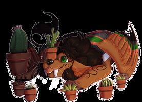 [Commission] Cactus Fan