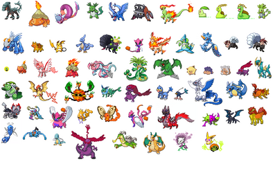 All My Pokemon Sprites Together by NaoTheSillyDuffer