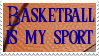 My sport is basketball stamp by SailorSolar