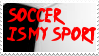 My sport is soccer stamp by SailorSolar
