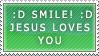 Smile, Jesus loves you stamp