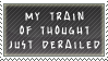 Train of Thought Stamp by SailorSolar