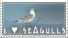 I Heart Seagulls Stamp by SailorSolar