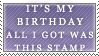 Birthday Stamp by SailorSolar