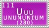 Unununium Stamp by SailorSolar