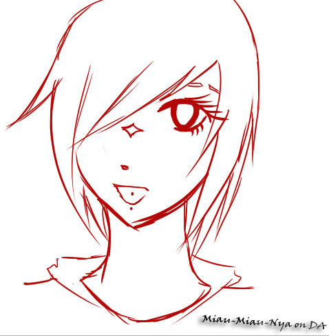 sketch of my new OC by Miau-Miau-Nya
