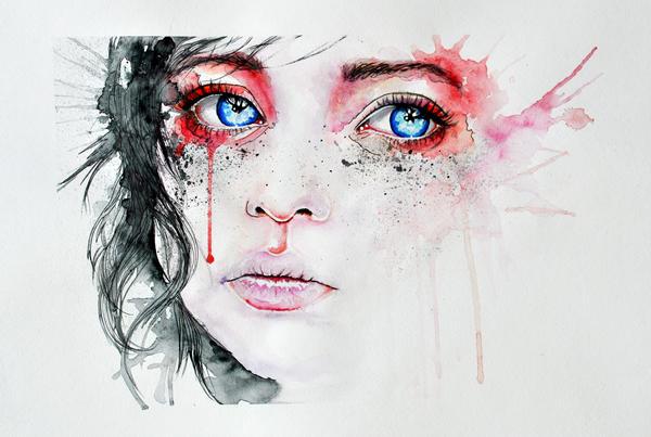 Dessin Et Peinture  Vido   Des Larmes De Sang  Peinture
