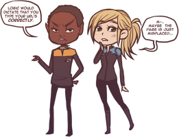 commish: tuvok + dianne chibis by hchan
