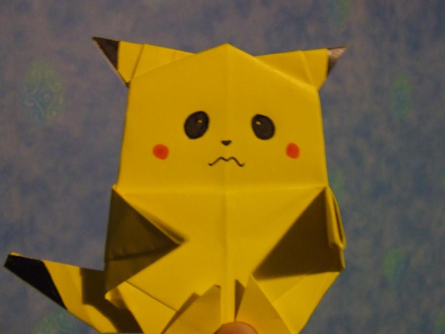Origami Pikachu XD by ~Frazzer