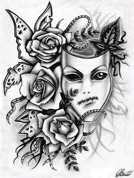 Mask and roses