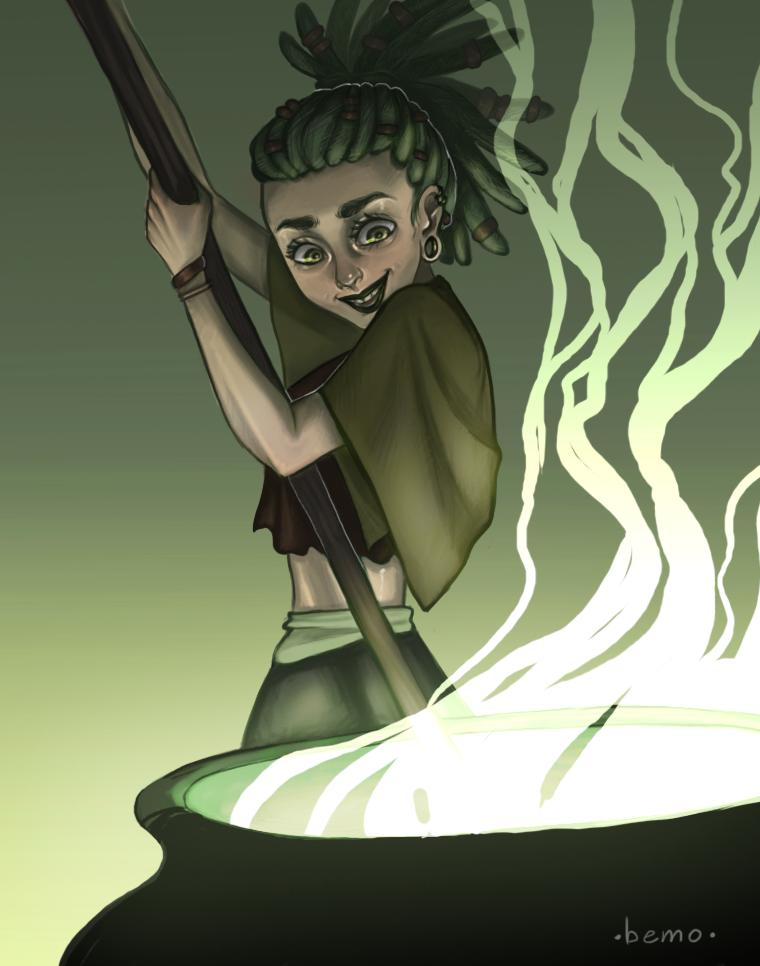 Green witch by Bemozavr