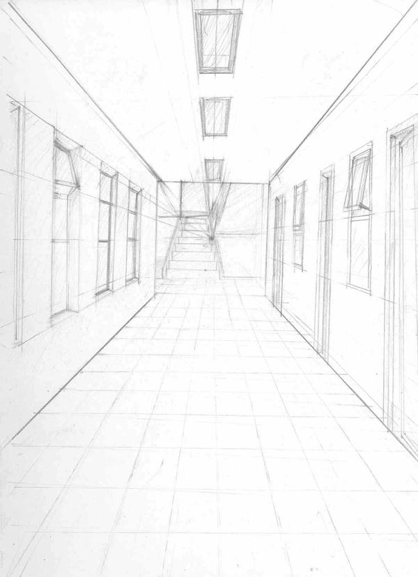 how to draw high angle perspective