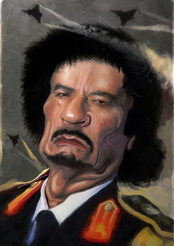 Gaddafi by BBarends