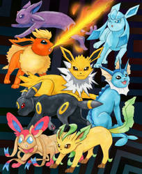 Eeveelutions 2008 by LegendaryBagel