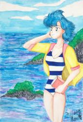 Ami-chan at the Beach by TiffanySamanthaLewis