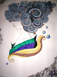 Geisha Heart of the Ocean by TiffanySamanthaLewis
