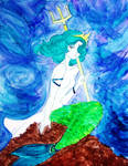 Sailor Neptune as Poseidon by TiffanySamanthaLewis
