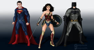 Superman Wonder Woman and Batman BvS