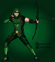 Oliver Queen aka The Green Arrow by TJJones96