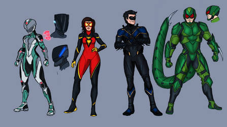 Marvel and Dc redesigns 1