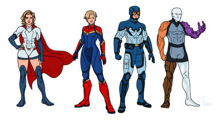 Marvel and Dc redesigns 2