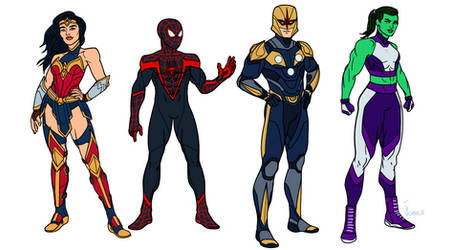 Marvel and Dc redesigns 3