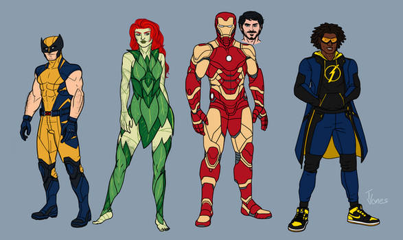 Marvel and Dc redesigns 4