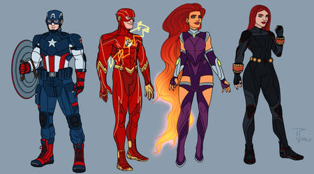 Marvel and Dc redesigns 5