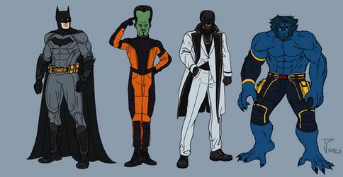 Marvel and Dc redesigns 7