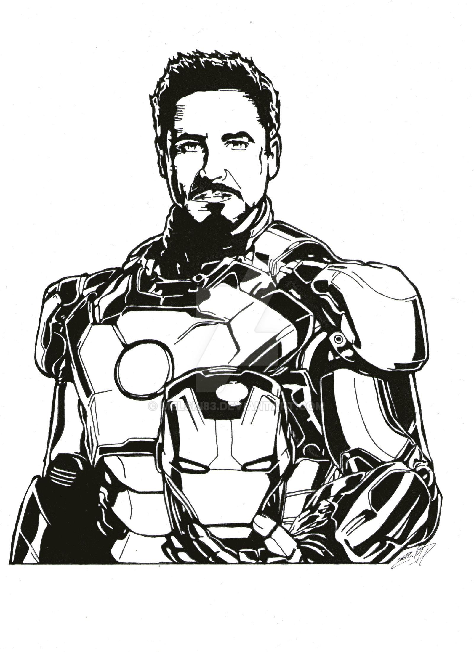 tony stark as iron man by melski83