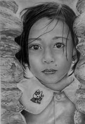 Cambodian School Girl by Althea2You