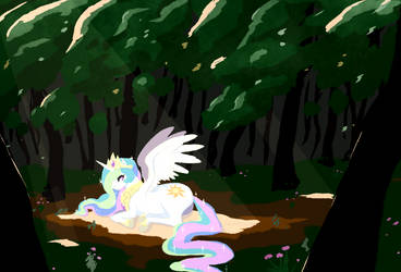 Celestia in the woods by hirosi41