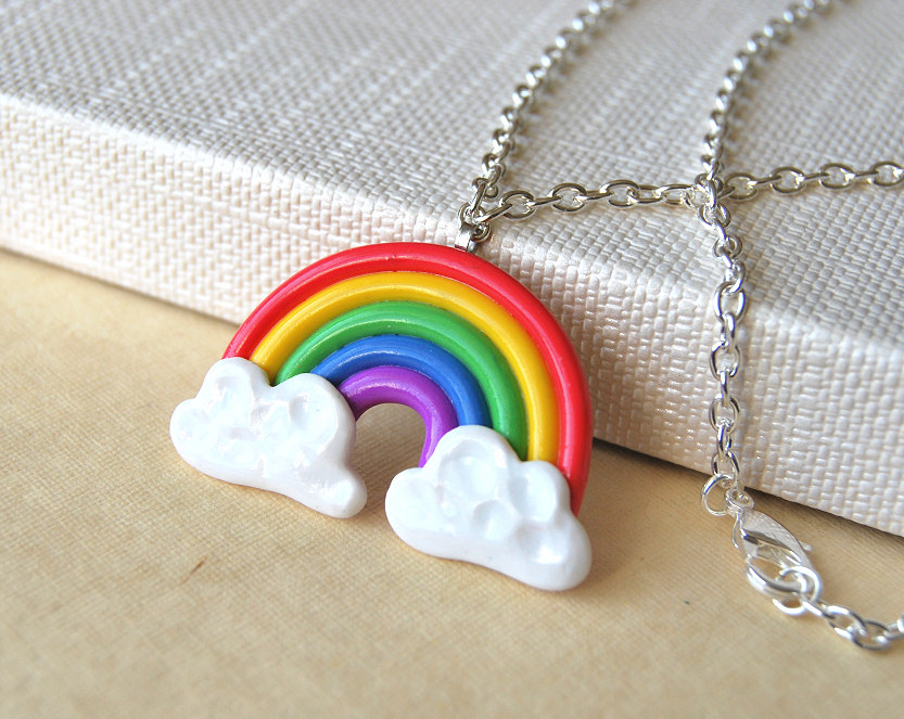 Rainbow Necklace by Madizzo on DeviantArt