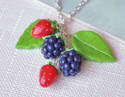Berry Cluster Pendant by Madizzo