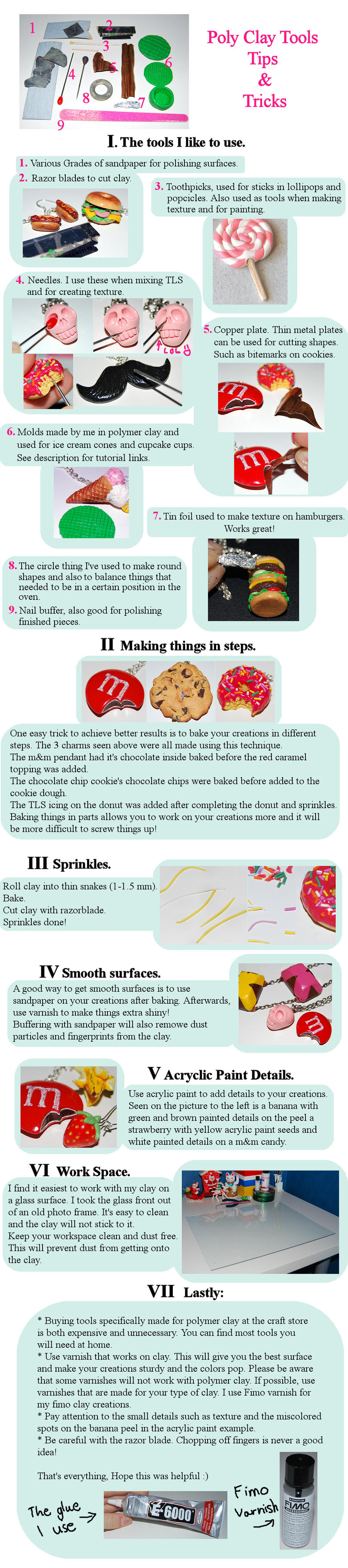Polymer Clay Tips and Tricks by Madizzo